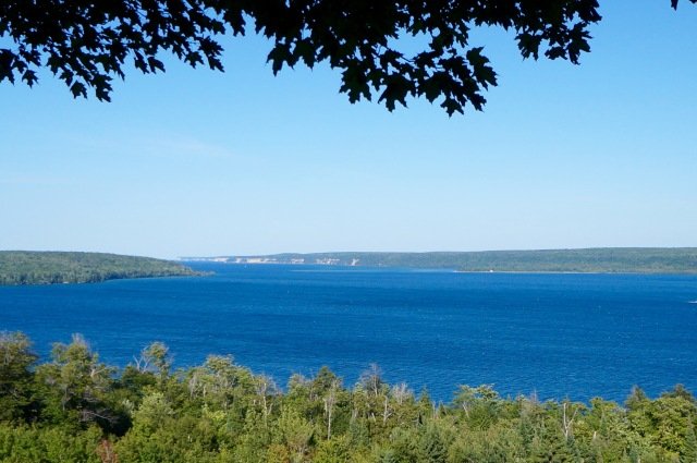 Our view of the Pictured Rocks, high above Munising perched on a glacial moraine.