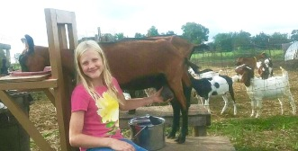 Arielle, the worldly 8-year-old who will have more to do with the goats!