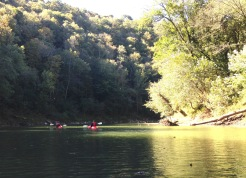"""The beginning of our """"Lazy River"""" kayak."""