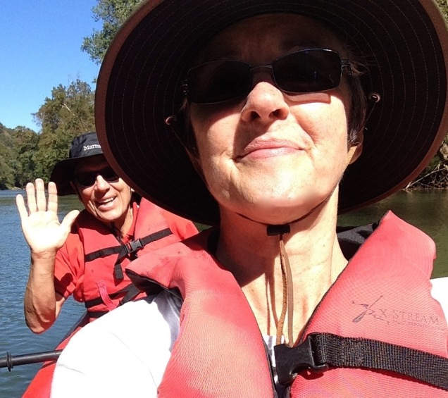 Super-sunny day was perfect for a paddle!