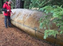 Fur trader canoe
