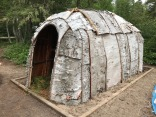 First Nations recreated wigwam