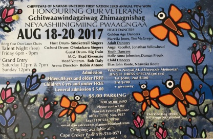 Schedule of events at PowWow