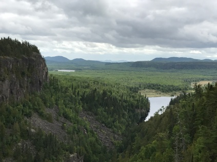 View toward Lake Superior from Canyon