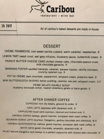Check dessert menus first!