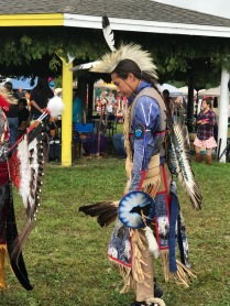 Stately teen during grass dance